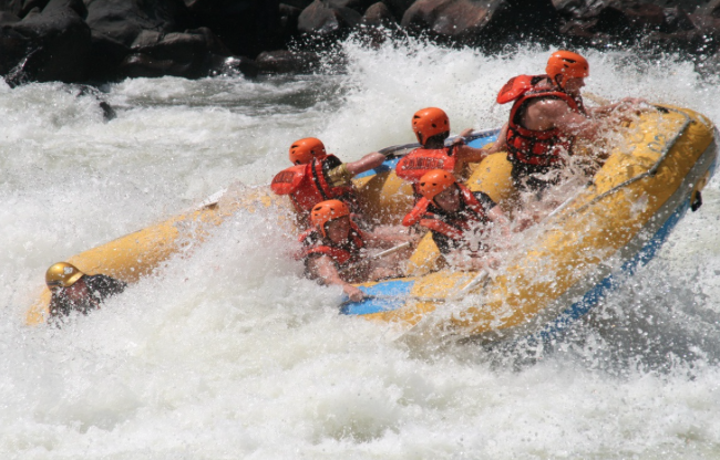 White water rafting, Zambezi