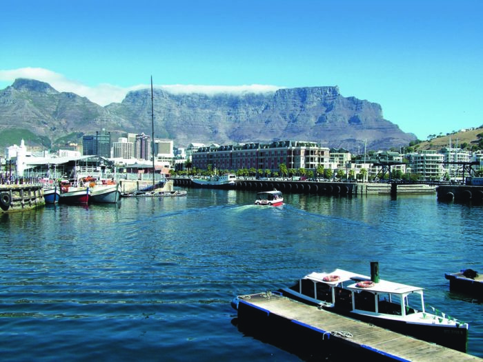 Waterfront Cape Town with view of Table Mountain